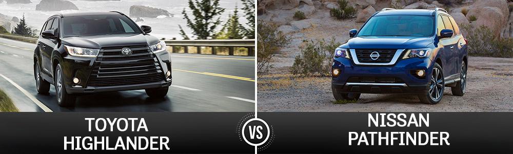 Toyota Highlander-vs-Nissan Pathfinder near West Palm Beach