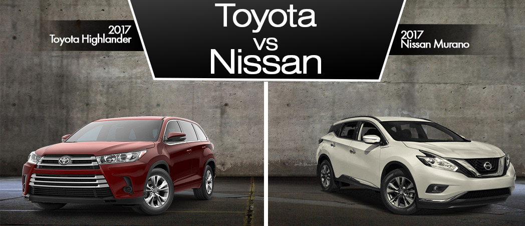 Toyota-Highlander vs Nissan-Murano in Delray Beach Florida